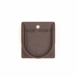 Door Socket - Supergate Ergo Espresso