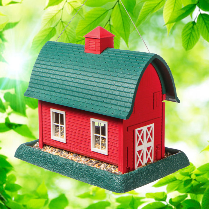 Large Red Barn Birdfeeder
