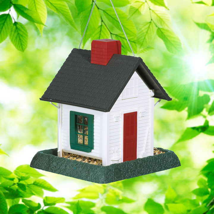 White Cottage Birdfeeder