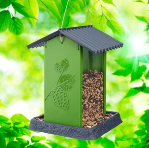 Green Pinecone Birdfeeder