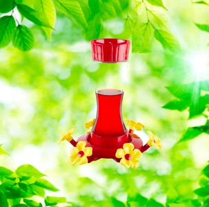 Hour Glass 20oz. Hummingbird Feeder