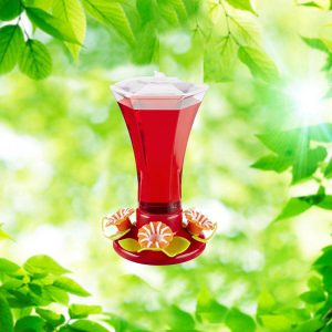 Festive Flower 24 oz. Hummingbird Feeder