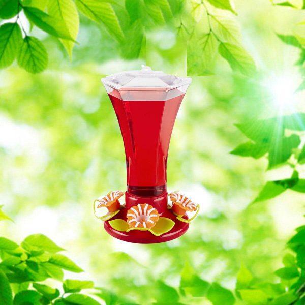 Festive Flower 24 oz. Hummingbird Feeder