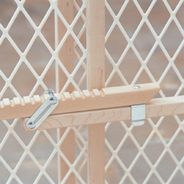 Diamond Mesh Gate Close-Up