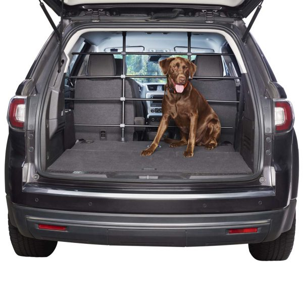 Tall Adjustable Vehicle Barrier with Dog