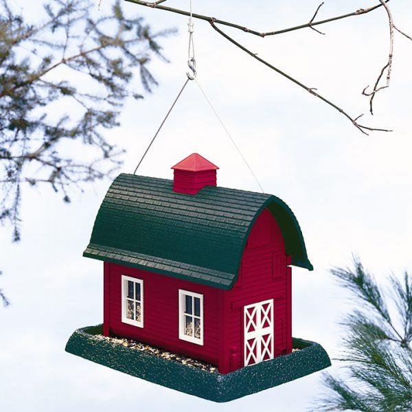 Large Red Barn Birdfeeder