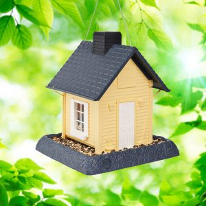 Yellow Cottage Birdfeeder
