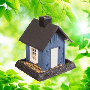 Blue Cottage Birdfeeder