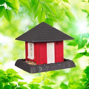 Garden House Birdfeeder - Red