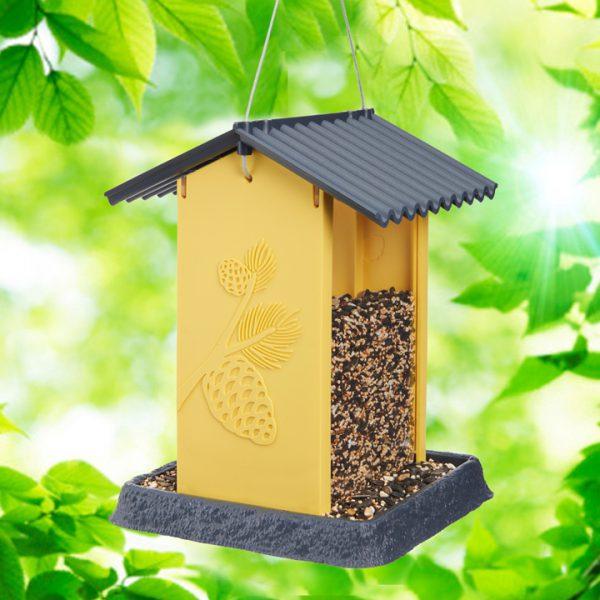 Yellow Pinecone Birdfeeder