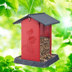 Red Pinecone Birdfeeder