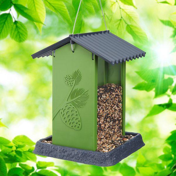 Green Pinecone Birdfeeder