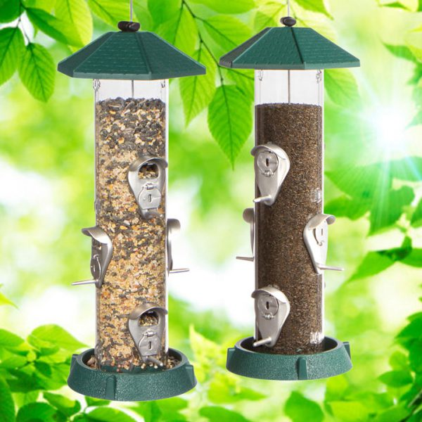 2-In-1 Hinged-Port Birdfeeder