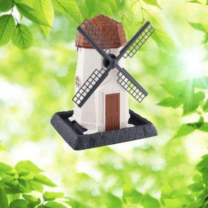 White Windmill Birdfeeder