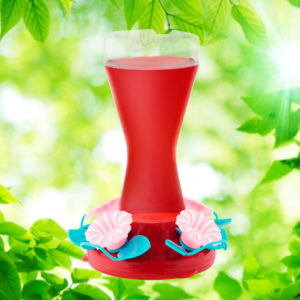 Pink Petunia 18 oz. Hummingbird Feeder