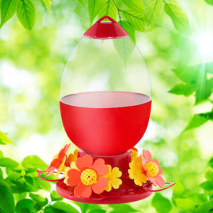 Flower Power 42 oz. Hummingbird Feeder