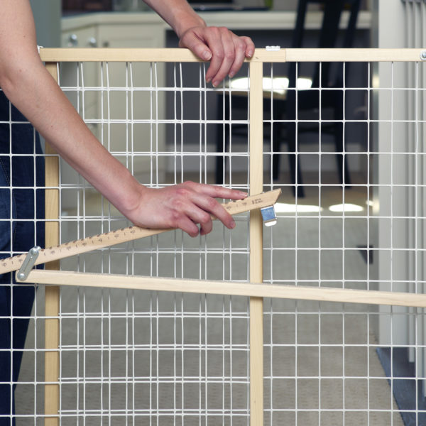 Extra-Wide Wire Mesh Gate