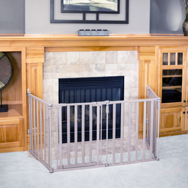 Superyard 3-in-1 Extra-Wide Gated Wood Barrier