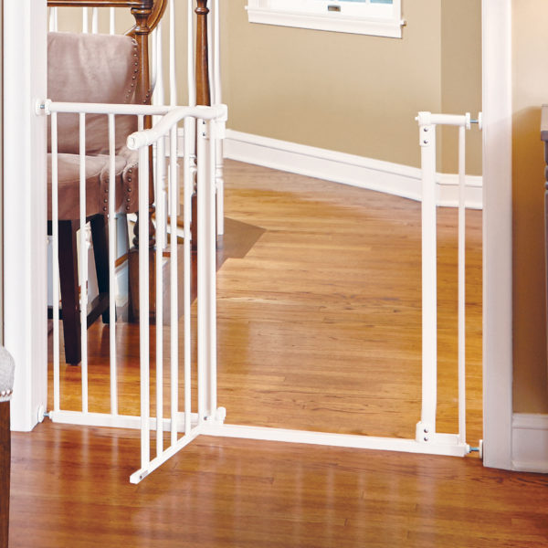 Arched Auto-Close Gate with Easy-Step White