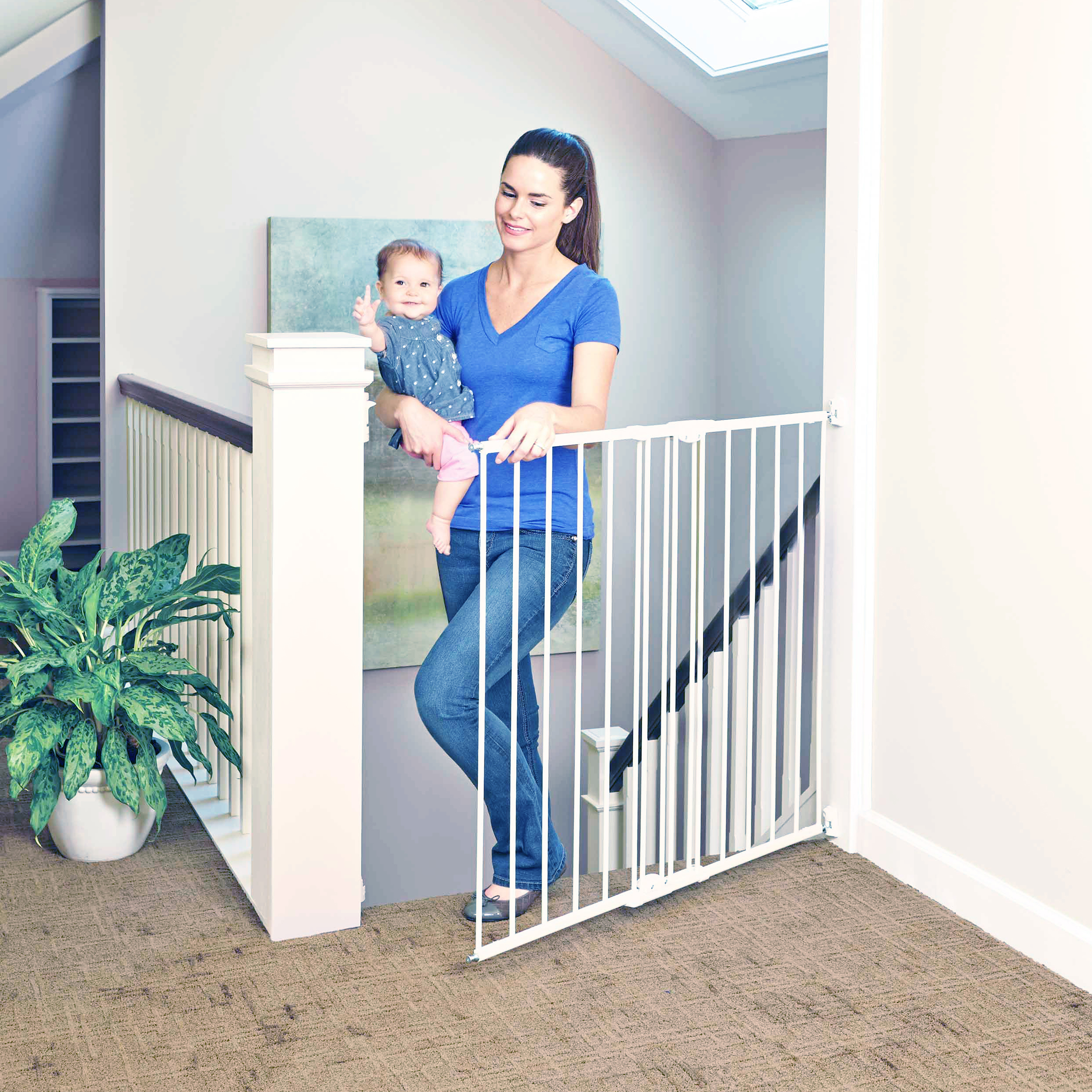 Tall Easy Swing Lock Baby Gates Baby Gates Toddleroo By North States