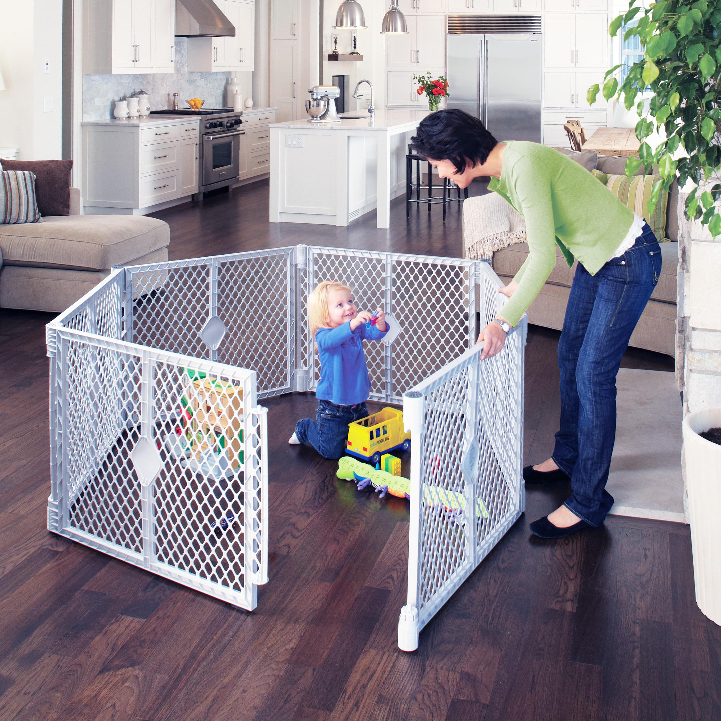Superyard Classic Six Panel Baby Play Area Indoor Outdoor