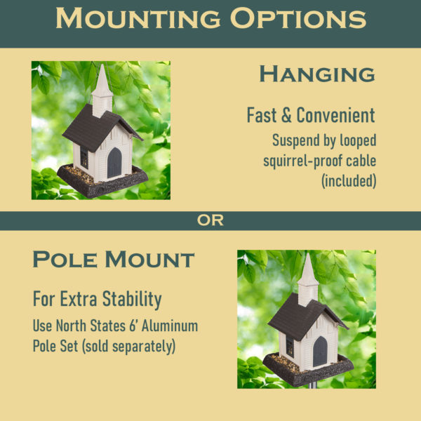 Church Birdfeeder Mounting Options