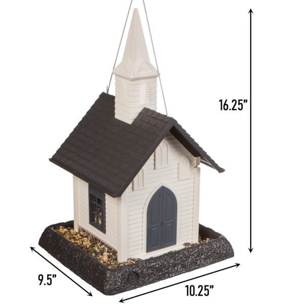 Church Birdfeeder Dimensions