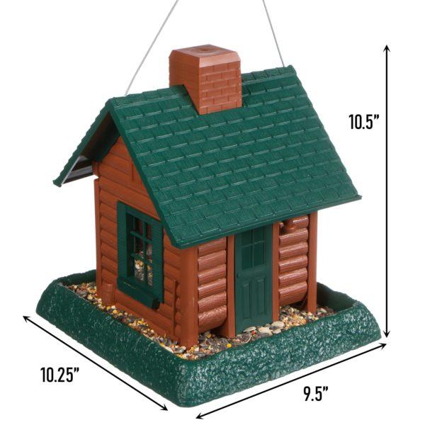 Log Cabin Birdfeeder Dimensions