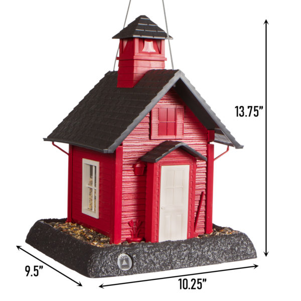School House Birdfeeder Dimensions