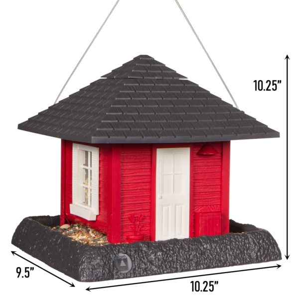 Garden House Birdfeeder Dimensions