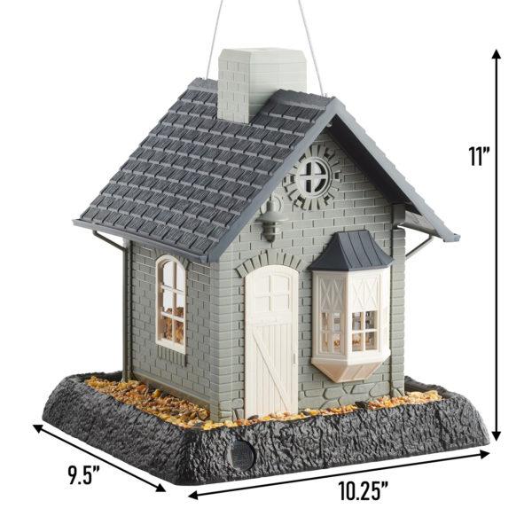 Bayside Cottage Birdfeeder Dimensions