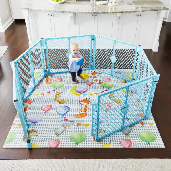 Balloon Ride Play Mat with Superyard Aqua Blue