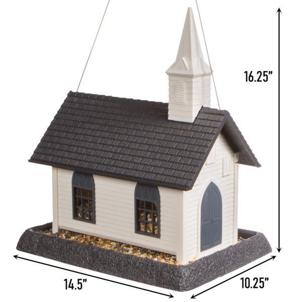 Large Church Birdfeeder Dimensions