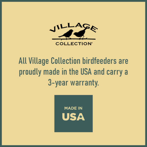 Large Log Cabin Birdfeeder Made in USA