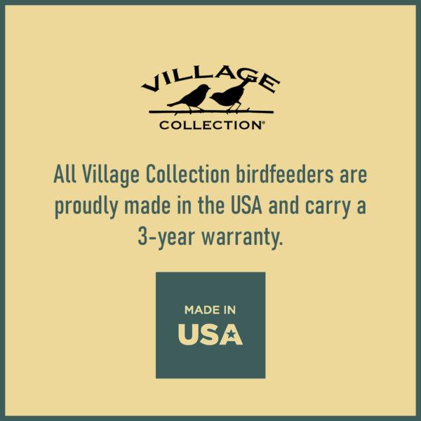 Large Blue Cottage Birdfeeder Made in USA