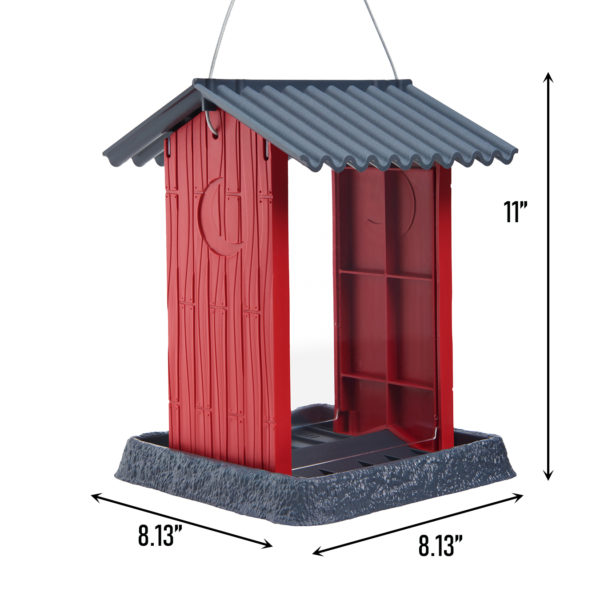 Red Shed Birdfeeder Dimensions