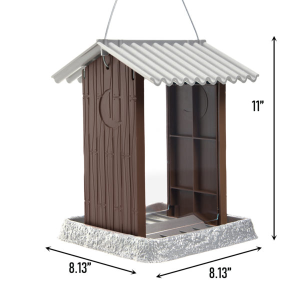 Outhouse Birdfeeder Dimensions