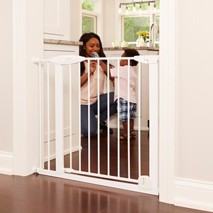 Bright-Choice Auto-Close Baby Gate Between Rooms/Hallways