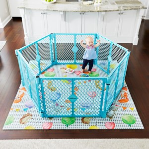 Superyard Aqua Blue Free-Standing Play Yard
