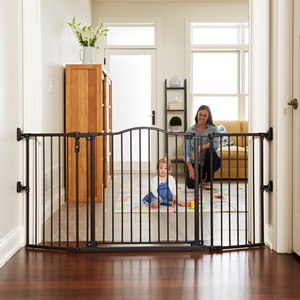 Gathered Home Baby Gate Extra-Wide Openings/Barriers