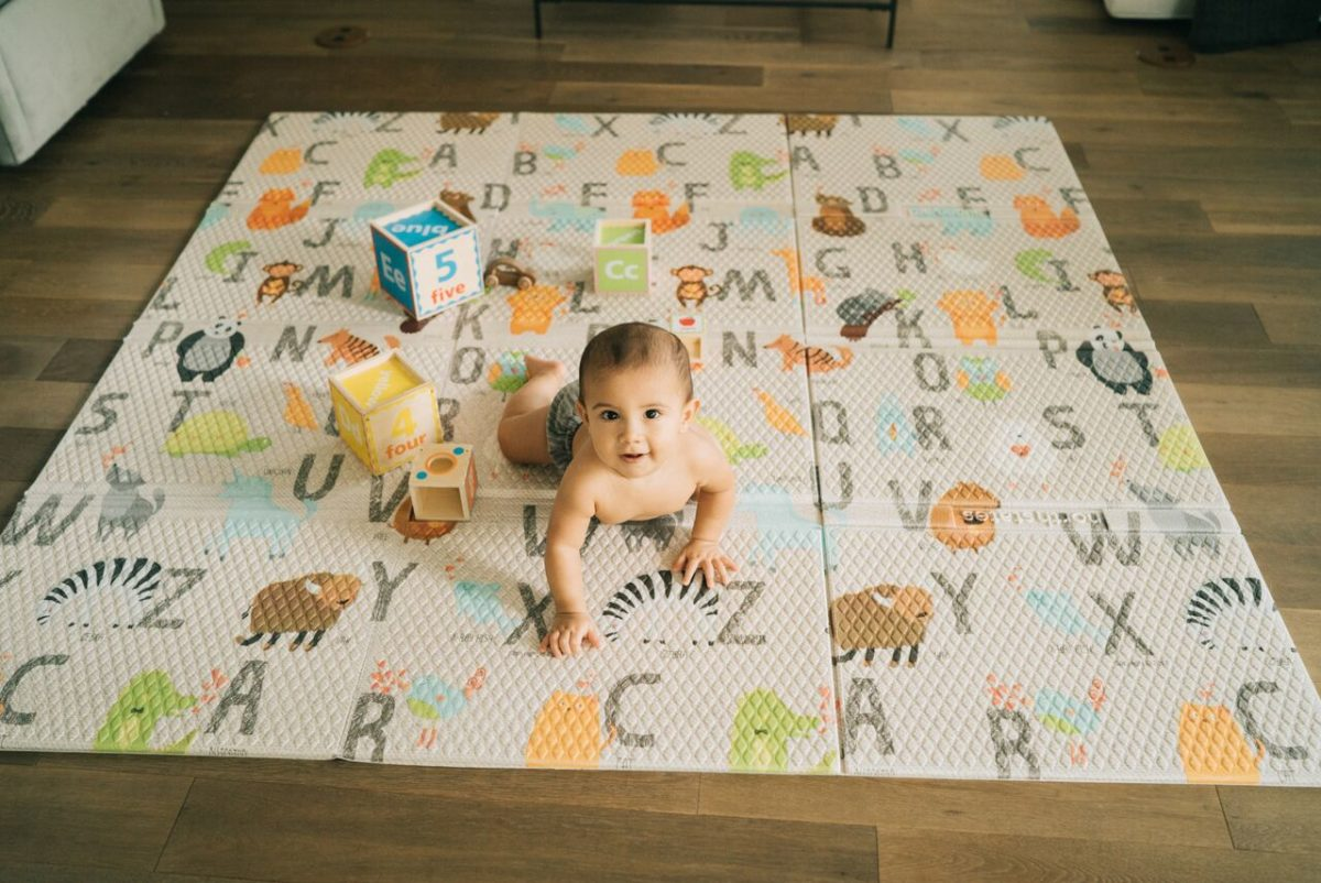 Baby on ABC Play Mat