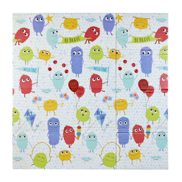 Superyard Folding Toddleroo Friends Play Mat Flat