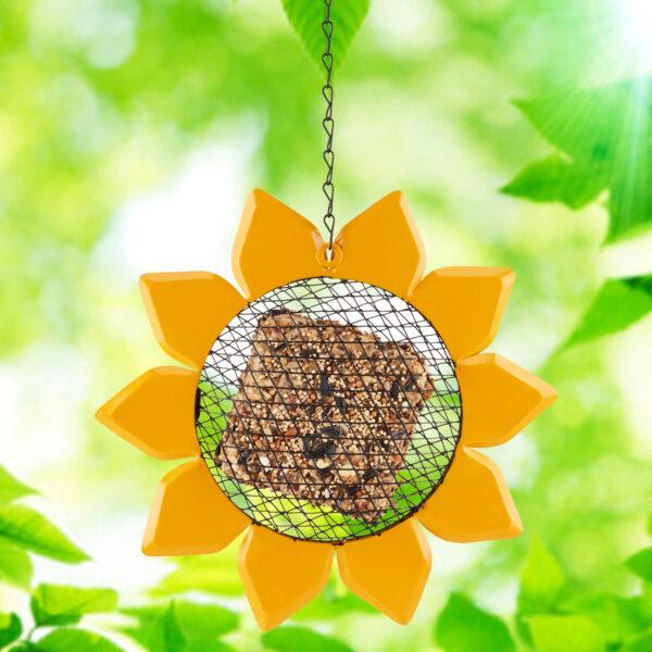 Golden Sunflower Suet Feeder