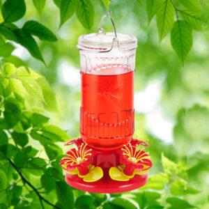Stargazer Glass Hummingbird Feeder